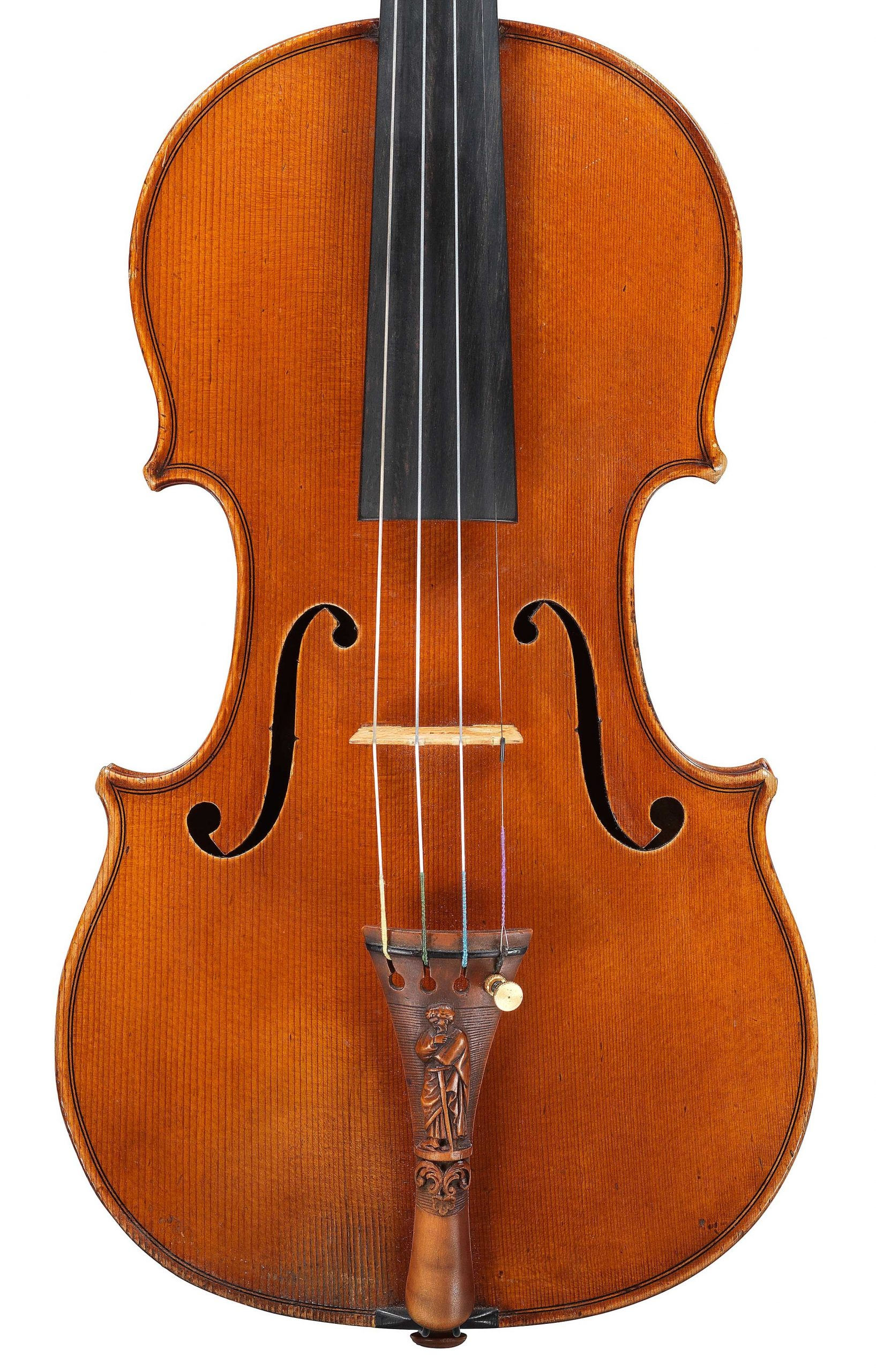 Front of violin by JB Vuillaume, St Paul, dated 1870, exhibited by Ingles & Hayday at Sotheby's in 2012