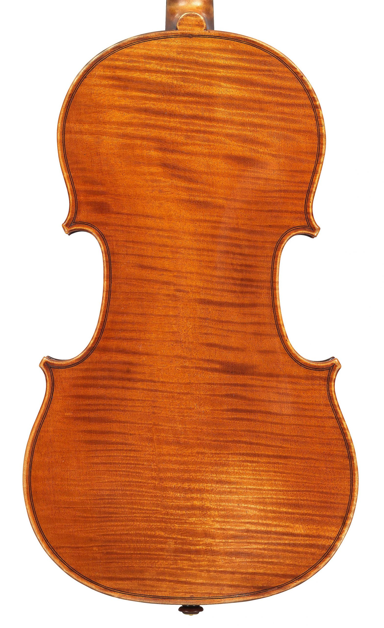 Back of violin by JB Vuillaume, ex-Sin, dated 1871, exhibited by Ingles & Hayday at Sotheby's in 2012