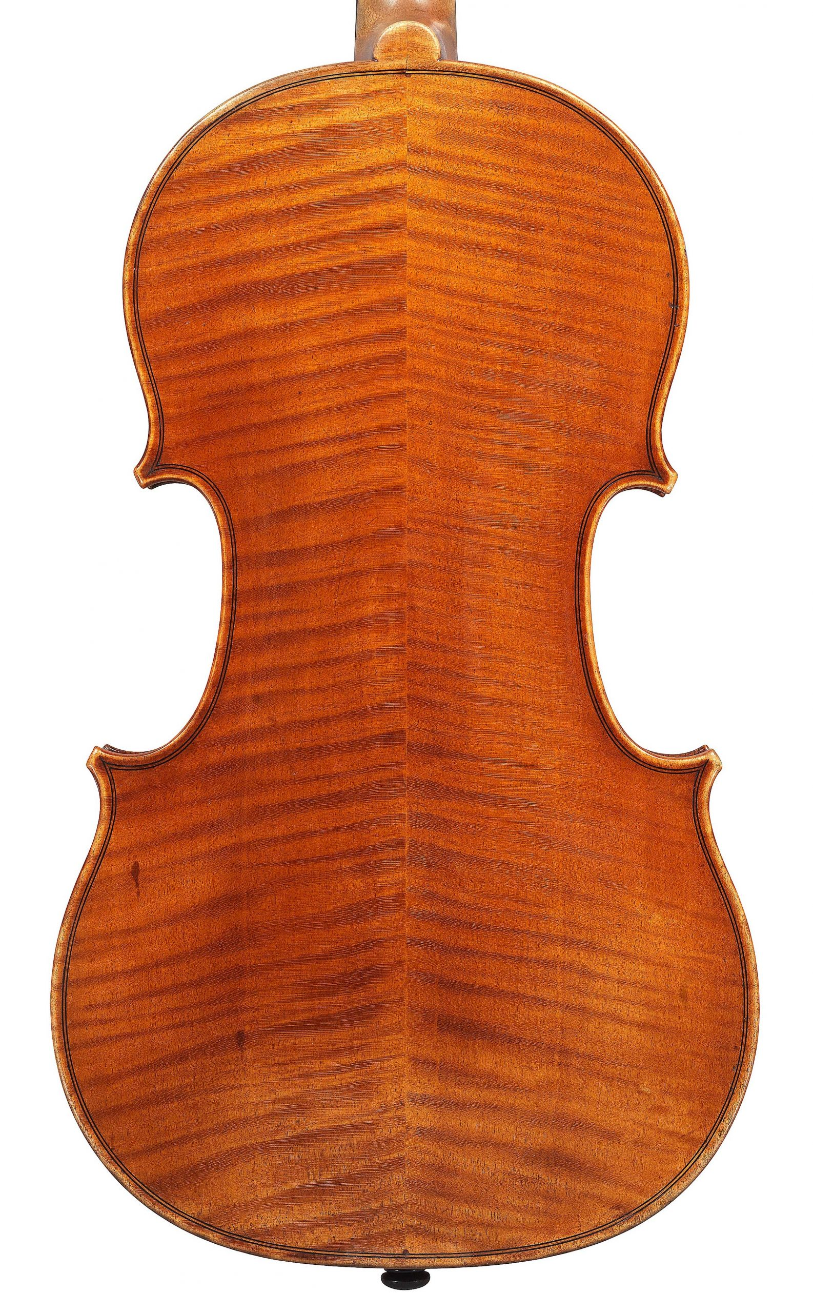 Back of violin by JB Vuillaume, ex-Posner, dated 1871, exhibited by Ingles & Hayday at Sotheby's in 2012