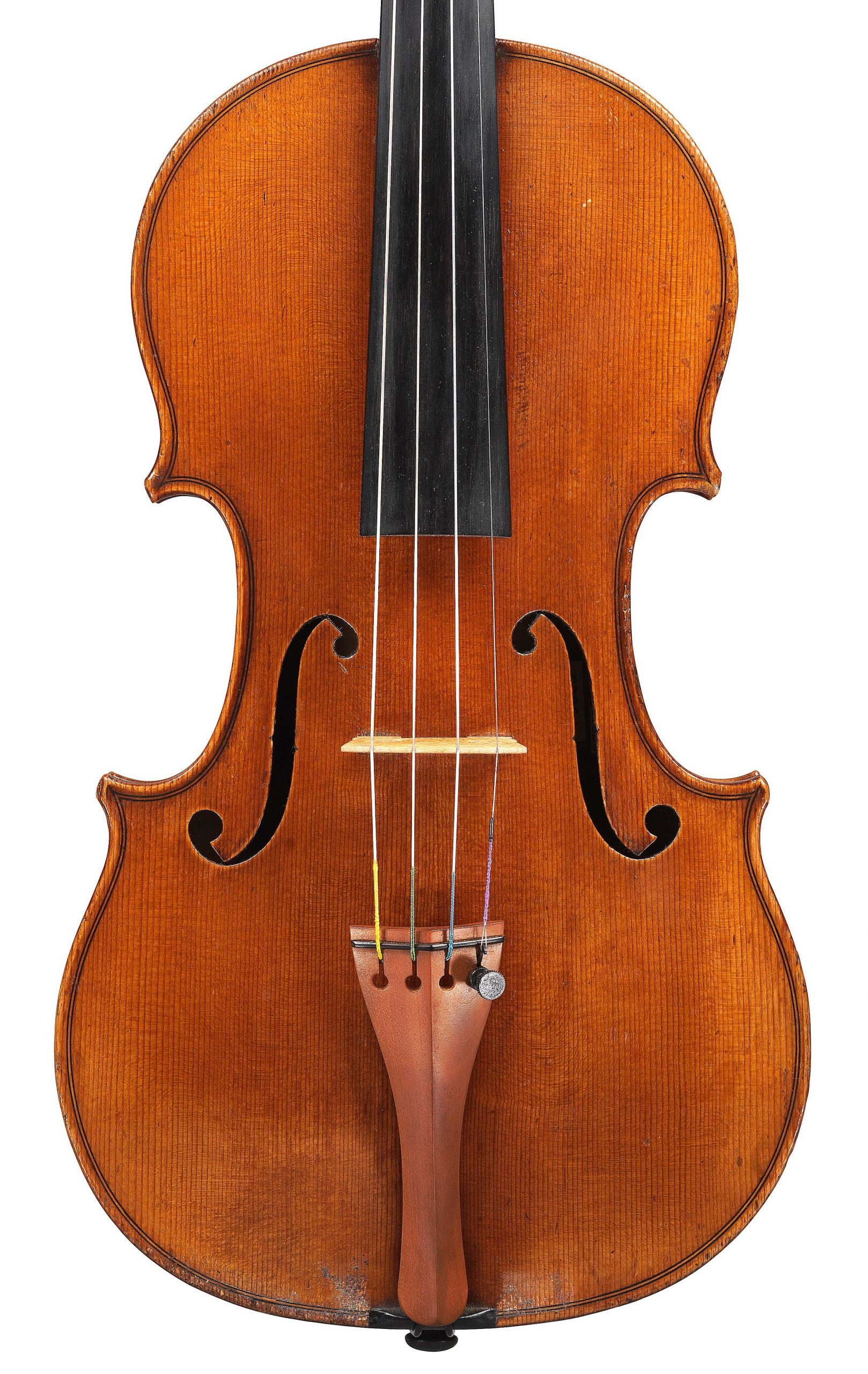 Front of violin by JB Vuillaume, ex-Posner, dated 1871, exhibited by Ingles & Hayday at Sotheby's in 2012