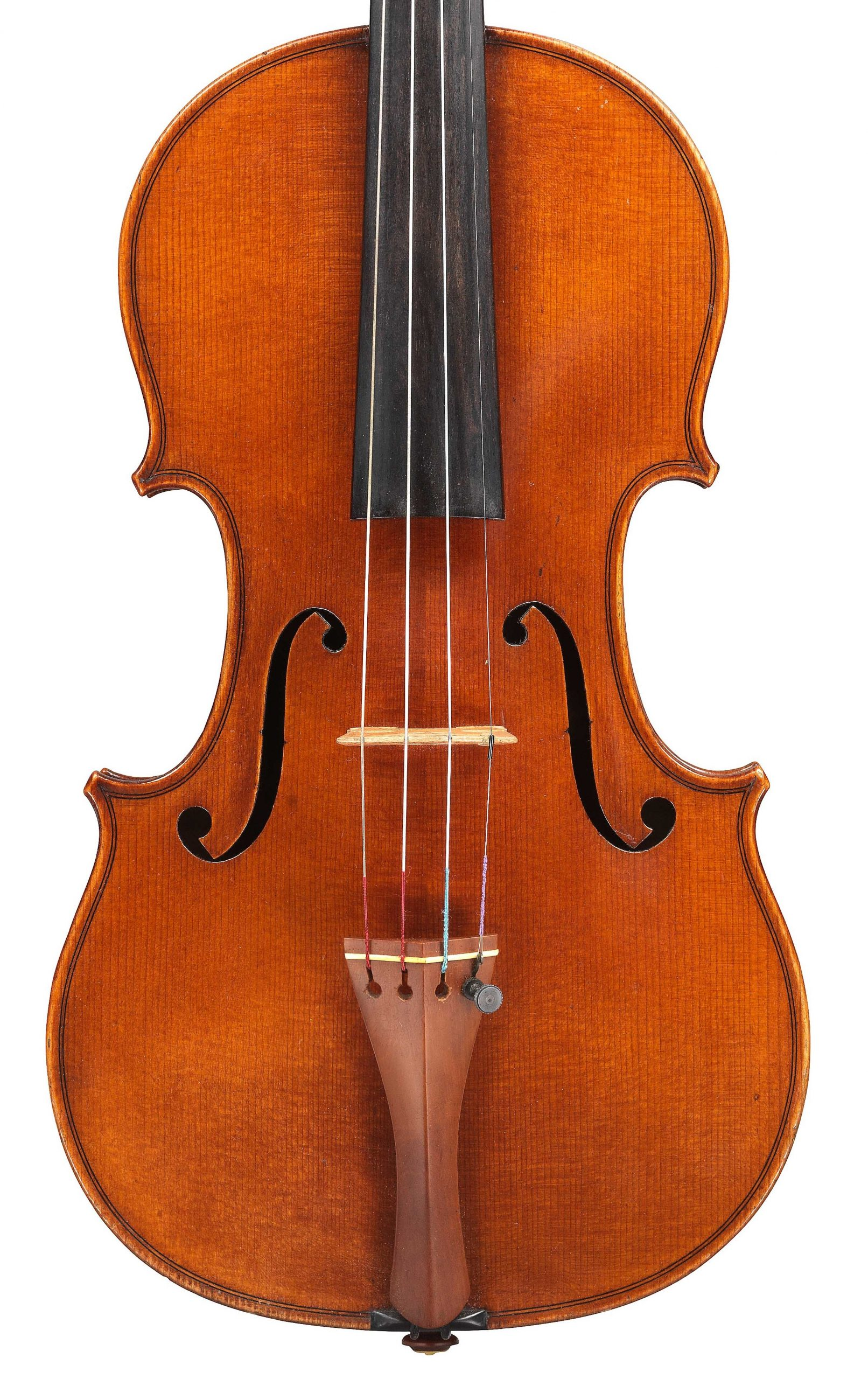 Front of violin by JB Vuillaume, ex-Sin, dated 1871, exhibited by Ingles & Hayday at Sotheby's in 2012