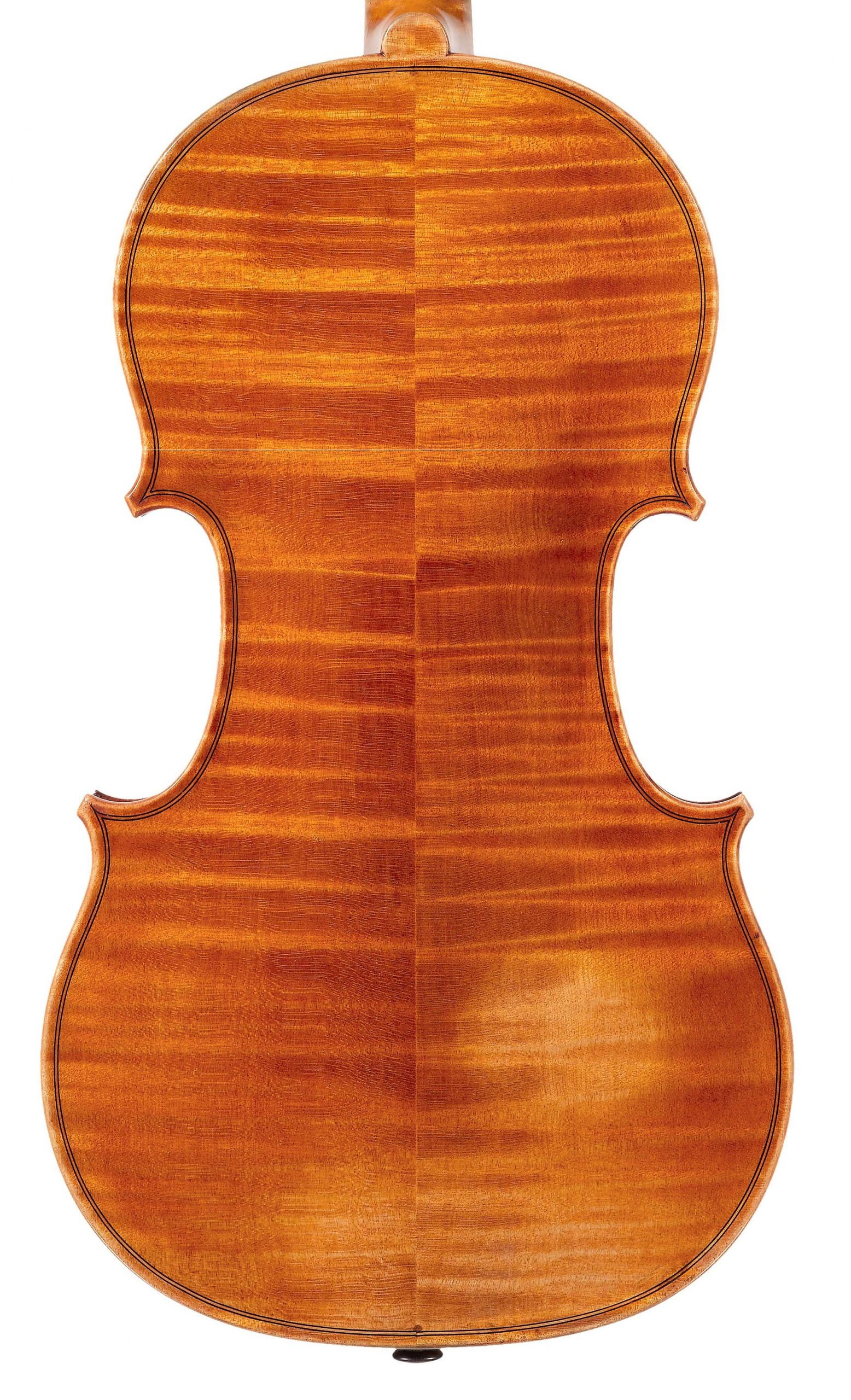 Back of St. Marc violin from the Evangelists quartet by JB Vuillaume, dated 18