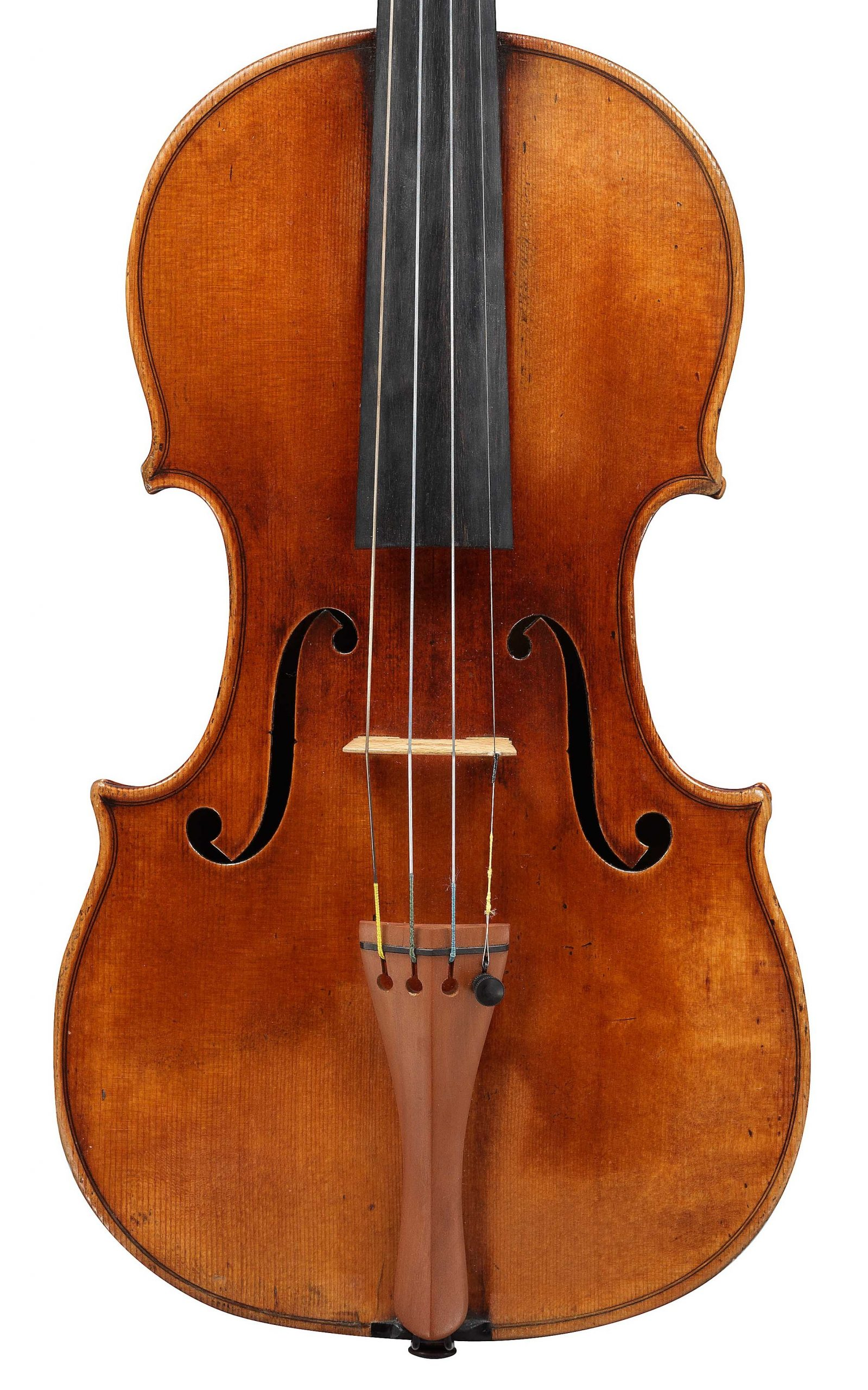 Front of Tsar Nicholas violin by JB Vuillaume, dated 1841, exhibited by INgles & Hayday at Sotheby's in 2012