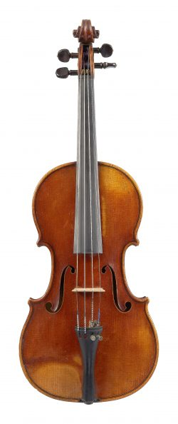 Front of a violin by Jean Gosselin, Paris, 1825