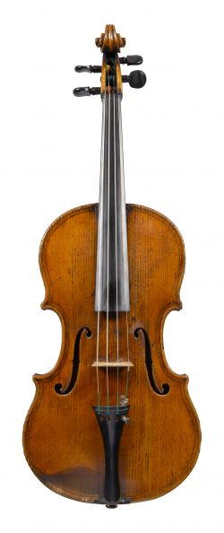Front of a viola by Johann Baptist Schweitzer, Budapest, c1845