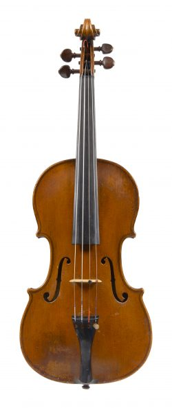 Front of a violin by Johannes Theodorus Cuypers, The Hague, dated 1790