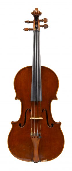 Front of a violin by Leandro Bisiach, 1920
