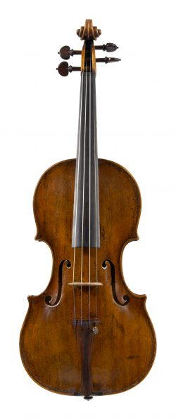 Front of a violin by Lorenzo and Tomasso Carcassi, Florence, dated circa 1750