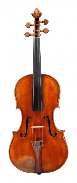 Front of a viola by Lorenzo Storioni, Cremona, 1787
