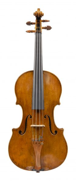 Front of a violin by Nicolo Gagilano, Naples, dated circa 1740