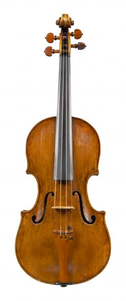 Front of a violin by Paolo Castello, Genoa, dated 1780