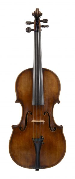 Front of a violin by Paul Bailly, Paris, 1891