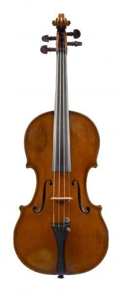 Front of a violin by Paul Bailly, Paris, 1898