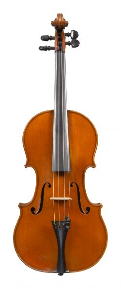 Front of a violin by Paul Jombar, Paris, dated 1914