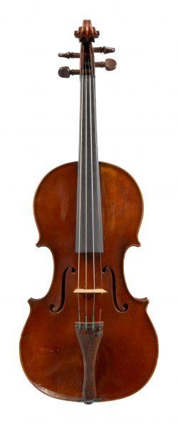 Front of a violin by Pauli Lorange, Lyon, 1900