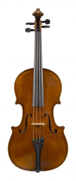 Front of a violin by Pierre Jean Henri Hel, Lille, 1911