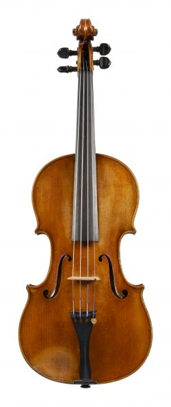 Front of a violin by Pierre Joseph Hel, Lille, 1885