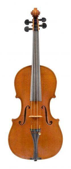 Front of a violin by Romano Marengo-Rinaldi, Turin, c1900