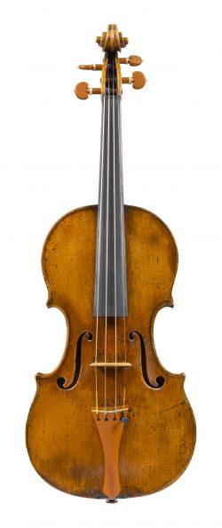 Front of a violin by Santo Serafin, Venice, 1743