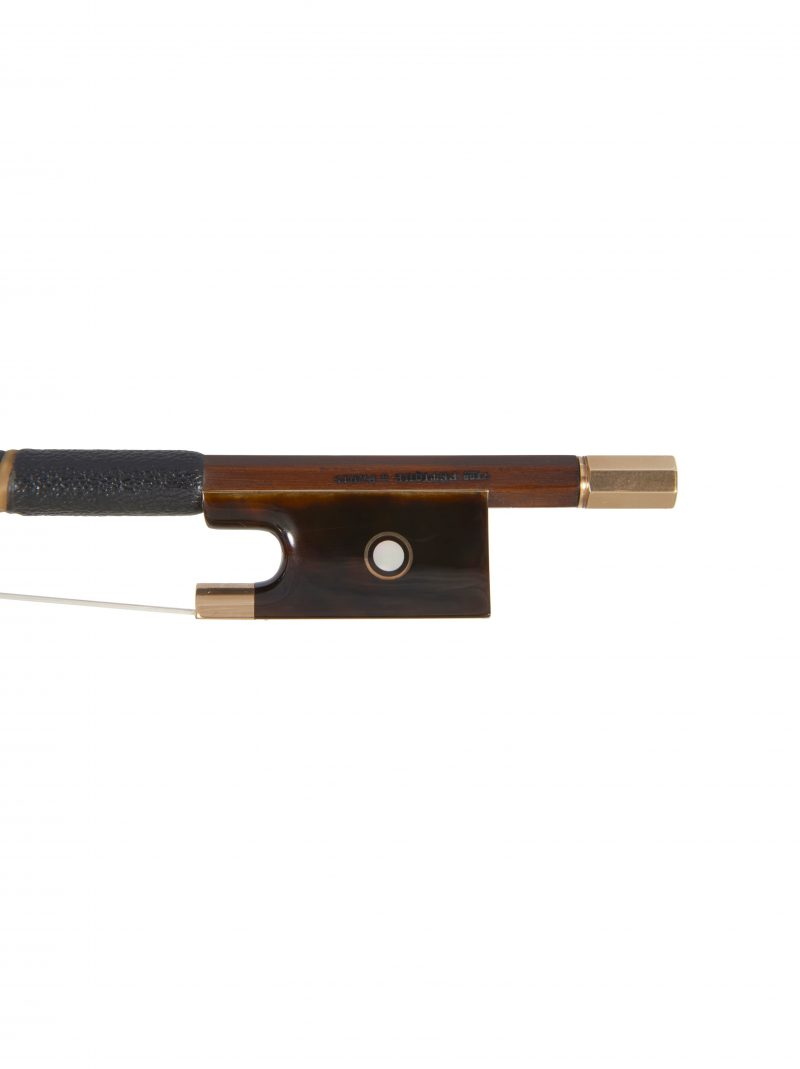 Frog of a gold & tortoiseshell-mounted violin bow by Victor Fétique, circa 1925
