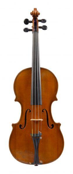 Front of a violin by Vincenzo Postiglione, Naples, 1910