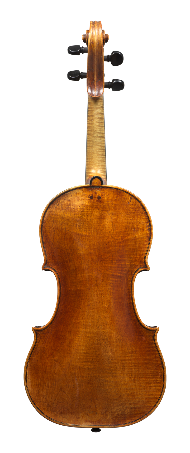 Back of a violin by Vincenzo Rugeri, made circa 1700, offered by Ingles & Hayday