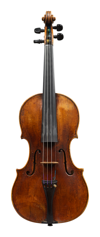 Front of a violin by Vincenzo Rugeri, made circa 1700, offered by Ingles & Hayday