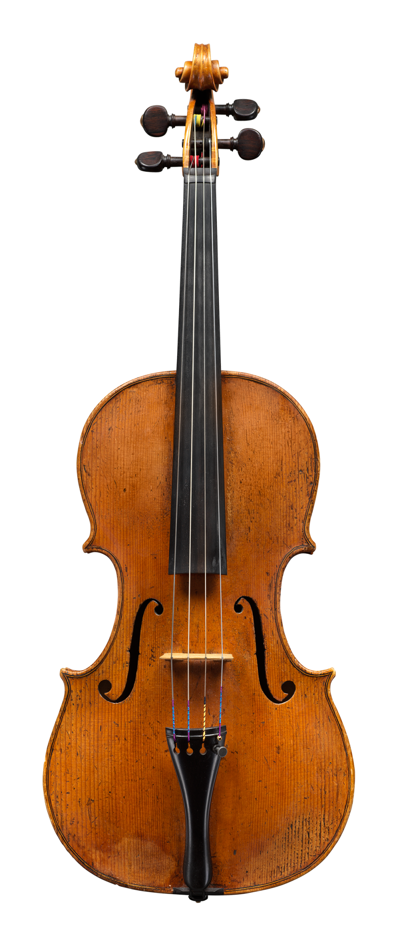 Front of a colourful and articulate sounding viola by little know Piattellini to be sold at Ingles & Hayday. Made circa 1760