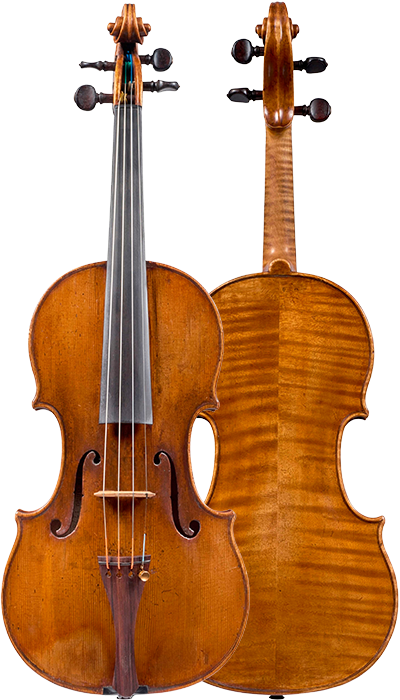 Composite view of a violin by Antonio Gragnani, 1776. This violin is a very representative example of the maker's output, with a beautiful and piercing tone which is colourful and carries well in all registers