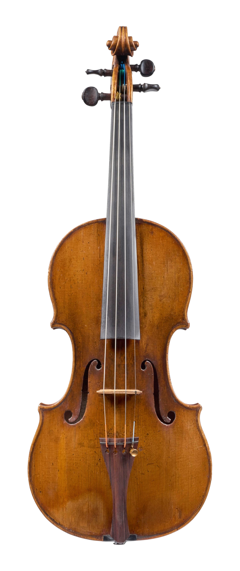 Front of a violin by Antonio Gragnani, 1776. This violin is a very representative example of the maker's output, with a beautiful and piercing tone which is colourful and carries well in all registers.