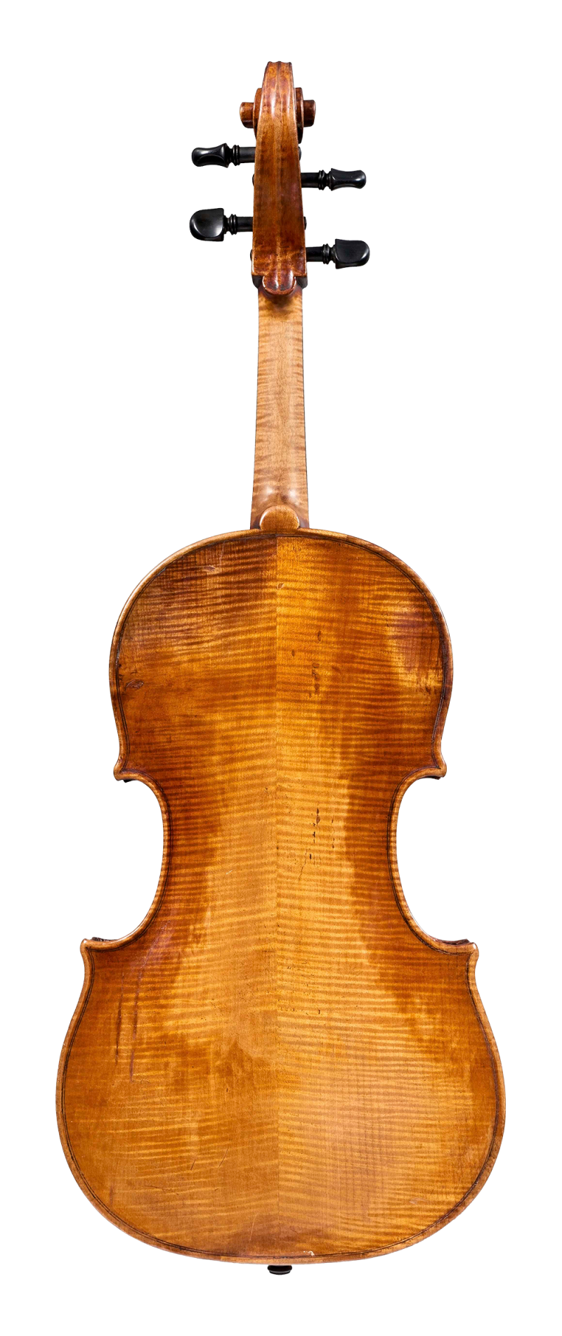 Back of a viola by Gaetano Sgarabotto, circa 1920. This viola has a full and warm sound with a singing A string and an open bass register.