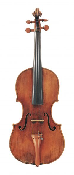 front of a violin by Alessandro Gagliano, Naples, c1720