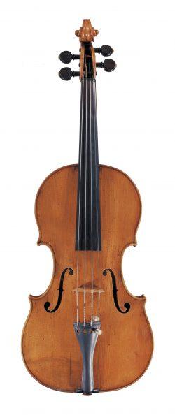 front of a violin by Carlo Antonio Testore, Milan, 1736