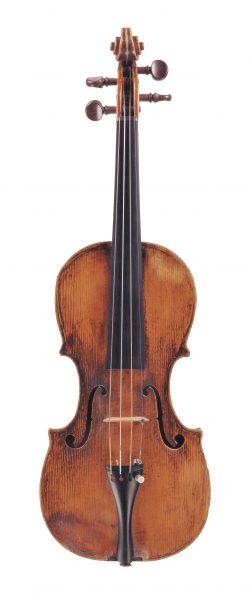 front of a child's violin by Carlo Ferdinando Landolfi, Milan, undated, Ex-Menuhin