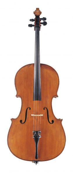 front of a cello by Enrico Rocca, Genoa, 1906