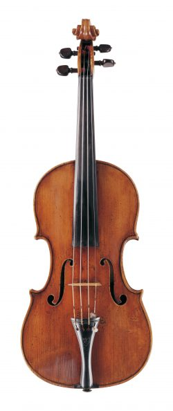 Front of a violin by Felix Mori Costa, Parma, circa 1820