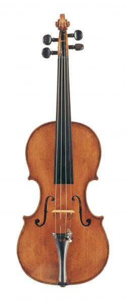 Front of a violin by Francesco Emiliani, Rome, 1733