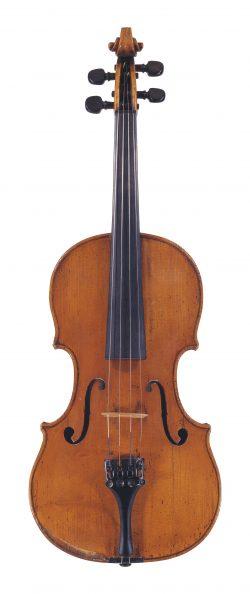 Front of a violin by Gennaro Gagliano, Naples, circa 1750