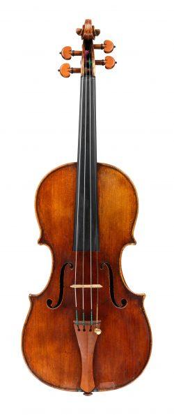 front of a violin by Giovanni Battista Guadagnini, Piacenza, 1741