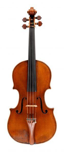front of a violin Giovanni Battista Guadagnini, Piacenza, 1744, ex-Knoop