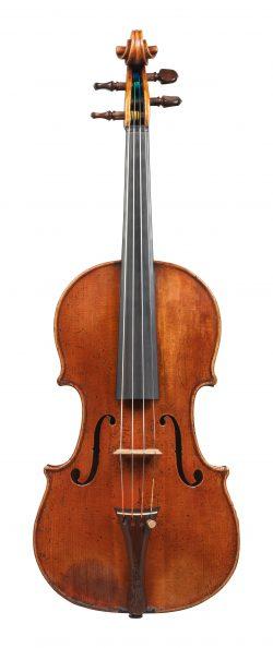 Front of a violin by Giovanni Battista Guadagnini, Milan, 1755