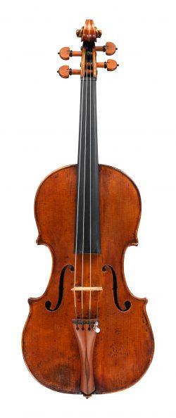 Front of a violin by Giovanni Battista Guadagnini, Milan, 1756