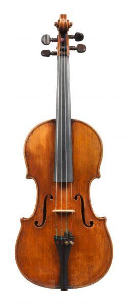 Front of a violin by Giuseppe Baldantoni, Ancona, 1845