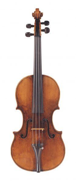 Front of a violin by Pietro Antonio dalla Costa, Treviso, 1764