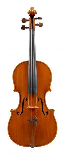 Front of a violin by Aldo Zani, Cesena, 1968