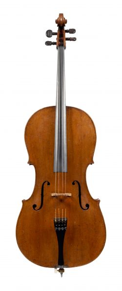 Front of a cello by Andrea Castagneri, Paris, circa 1750