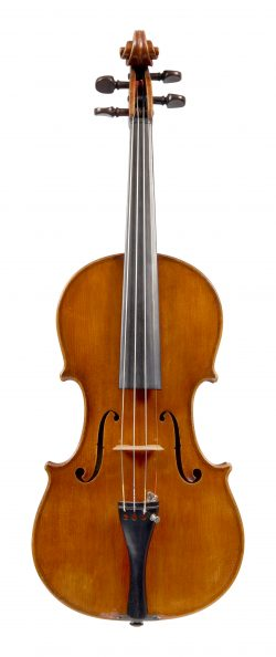 Front of a violin by Anselmo Gotti, Ferrara, 1945