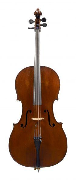 Front of a cello by August Sebastien Bernardel, Paris, c1860