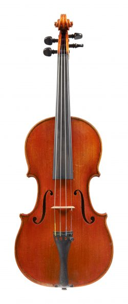 Front of a violin by Carl Becker, Chicago, 1928