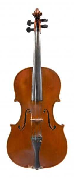 Front of a viola by Charles Boullangier, London, 1888